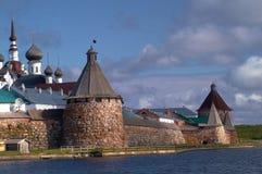 Tours de monastère de Solovetsky Photographie stock libre de droits
