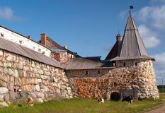 Tours de monastère de Solovetsky Image stock