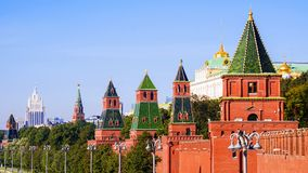 Tours de Moscou Kremlin, Russie Images stock