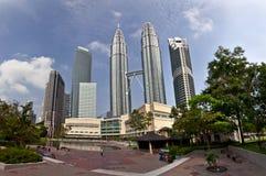 Tours de Petronas à Kuala Lumpur Photos libres de droits