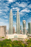 Tours de Petronas, Kuala Lumpur Image libre de droits