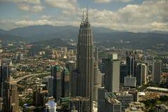 Tours de Petronas, Kuala Lumpur, Malaisie Photographie stock libre de droits