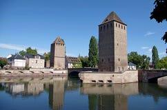 Tours de Ponts Couverts Strasbourg, France Images libres de droits