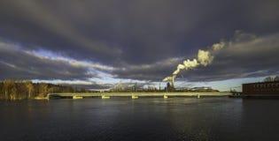 Tours de refroidissement de vapeur Photographie stock libre de droits