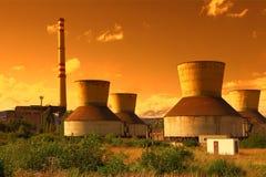 Tours de refroidissement industrielles Images stock