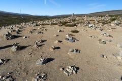 Tours de roche sur le cercle polaire Photo libre de droits