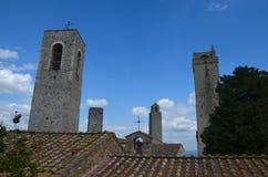 Tours de San Gimignano, Toscane, Italie Image libre de droits