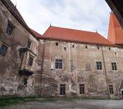 Tours du château de Corvin en Roumanie Image libre de droits