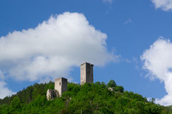 Tours et châteaux antiques Italie Castelluccio Image libre de droits