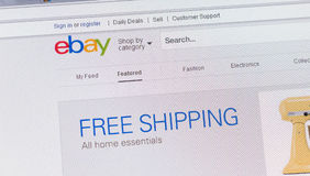 Tours, France - June 17, 2014: Close up of ebay's website on a c Stock Photo