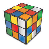 TOURS, FRANCE- SEPTEMBER 24, 2014: Rubik's cube, a 3D combinatio. N puzzle invented in 1974, on white background Royalty Free Illustration