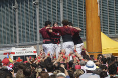 Tours humaines catalannes, Castells Images stock