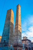 Tours jumelles à Bologna Italie Photos libres de droits