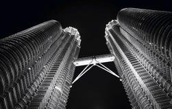Tours jumelles chez Kuala Lumpur photo libre de droits