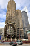 Tours jumelles de Chicago Marina City Image libre de droits