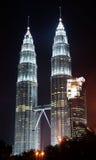 Tours jumelles de Kuala Lumpur Photos libres de droits