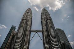 Tours jumelles de Kuala Lumpur Petronas photo libre de droits