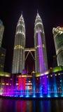 Tours jumelles de la Malaisie Kuala Lumpur PETRONAS Image libre de droits