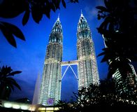 Tours jumelles de Petronas Photos stock