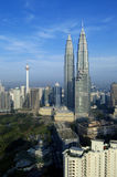 Tours jumelles de Petronas, centre de la ville de Kuala Lumpur Photo stock