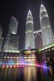 Tours jumelles de Petronas, Kuala Lumpur Photographie stock