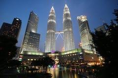 Tours jumelles de Petronas, Kuala Lumpur Photos stock