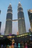 Tours jumelles de Petronas, Kuala Lumpur Photographie stock libre de droits