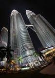 Tours jumelles en Malaisie photos libres de droits
