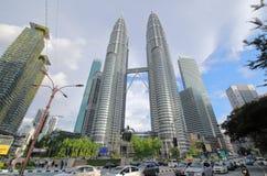 Tours jumelles Kuala Lumpur Malaysia de Petronas photographie stock libre de droits