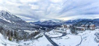 Tours och lopp till Ryssland Sochi är ett favorit- ställe Fotografering för Bildbyråer