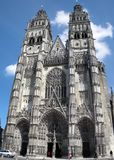 Tours's Cathedral. Cathedral of Tours in france Stock Image