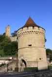 Tours sur des murs de ville, Luzerne, Suisse. Images libres de droits