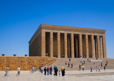 Toursists на Anitkabir, Анкаре, Турции Стоковое Изображение RF