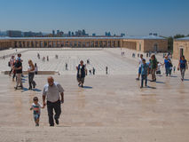 Toursists на Anitkabir, Анкаре, Турции Стоковые Изображения