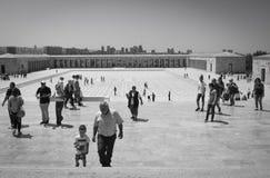 Toursists en Anitkabir, Ankara, Turquía Fotografía de archivo libre de regalías