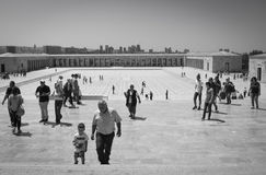 Toursists przy Anitkabir, Ankara, Turcja Fotografia Royalty Free