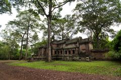 Toursits, Angkor Wat στην Καμπότζη Στοκ Εικόνα