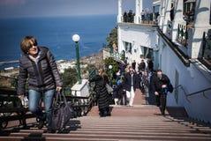 Toursits, Capri, Italy. Royalty Free Stock Photo