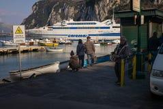 Toursits, Capri, Italy. Royalty Free Stock Images