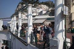 Toursits, Capri, Italy. Royalty Free Stock Photos