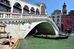 Toursits Di Kantor i Ponte Obraz Royalty Free