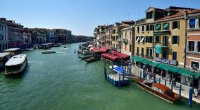 Toursits su Grand Canal immagine stock