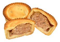 Tourtes à la viande fraîchement cuites au four Images stock