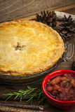 Tourtiere meat pie Royalty Free Stock Images