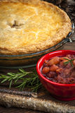 Tourtiere meat pie Stock Photo