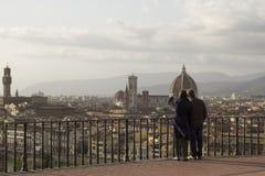 Tourust在佛罗伦萨,托斯卡纳,意大利 库存图片