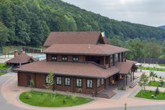 Tourustic kompleks w Carpathians Obrazy Stock
