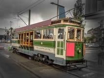 Tous à bord du tram de Christchurch ! Photo libre de droits