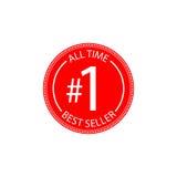 Tous chronomètrent l'insigne du best-seller Photos stock