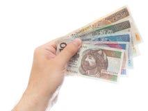 Tous les billets de banque de zloty Photographie stock libre de droits